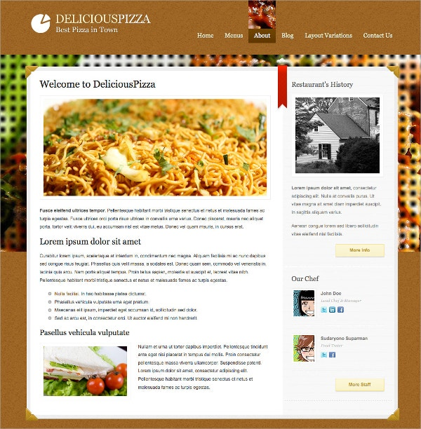 Coffee Shop, Delicious Food Restaurant WordPress Theme $44