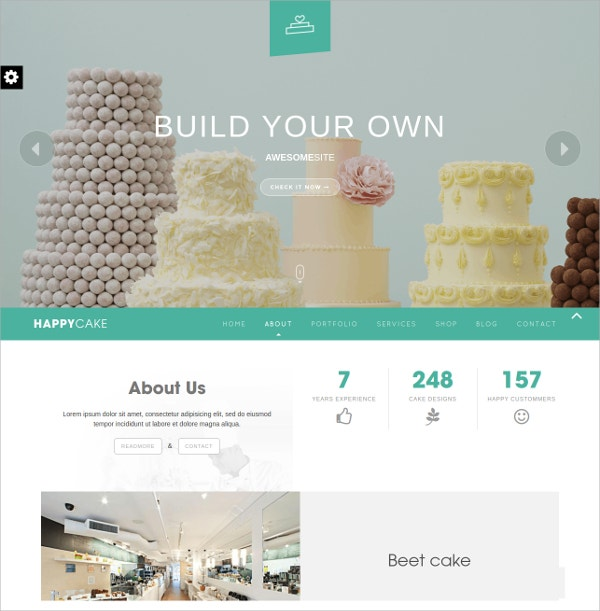 Bakery & Restaurant WordPress Theme $59