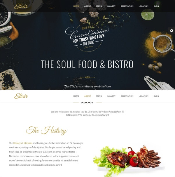 Pizza, Burger & Restaurant WordPress Theme $44
