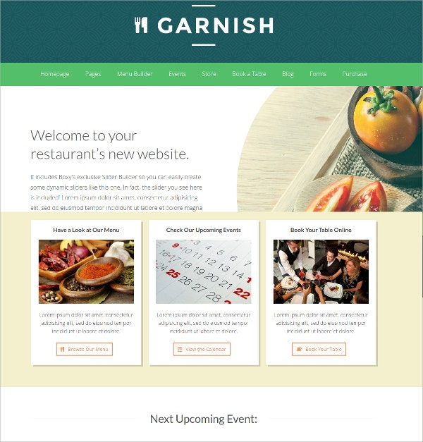Garnish Drag & Restaurant WordPress Theme
