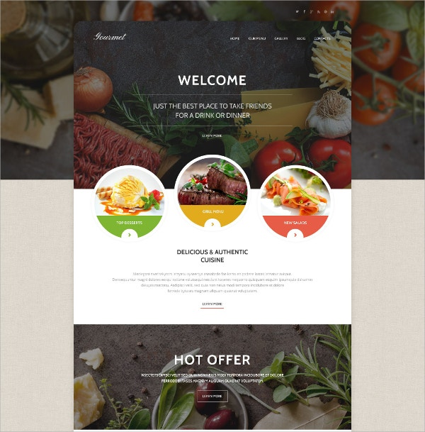 Restaurant & Cuisine WordPress Theme $79
