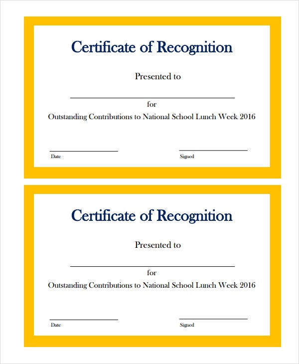 14 certificate of recognition templates free sample example format free premium templates. Black Bedroom Furniture Sets. Home Design Ideas