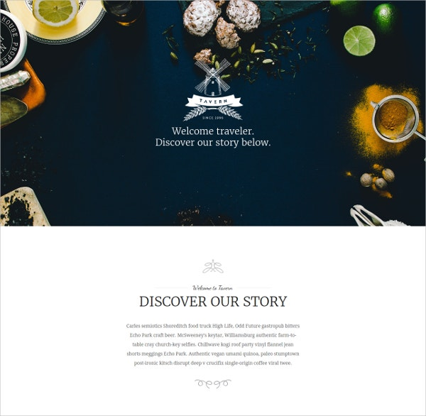 Professional Restaurant WordPress Website Theme $59