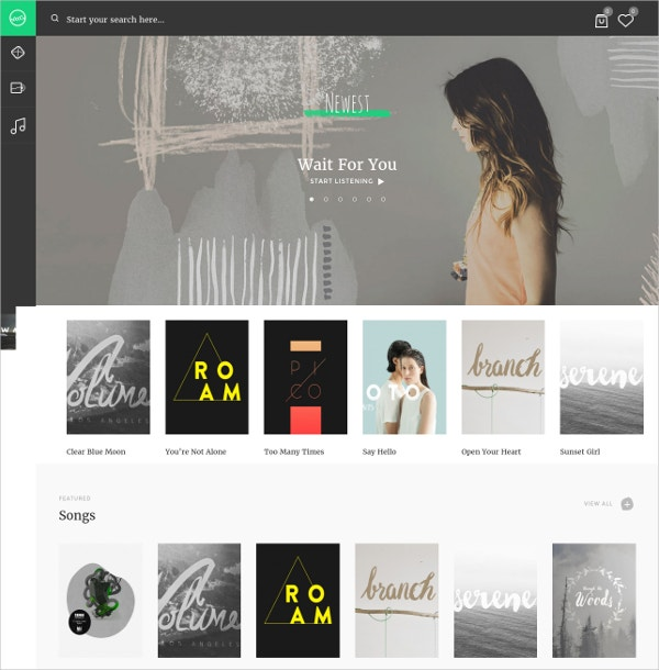Music Artist WordPress Website Theme $59