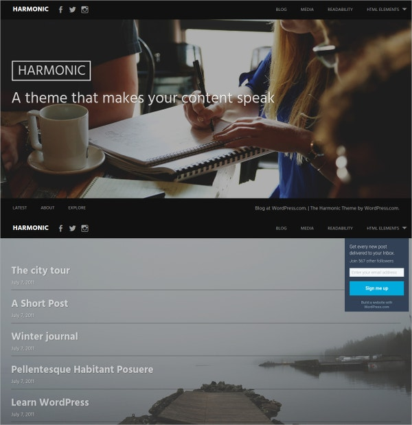 Free Photography WordPress Website Template
