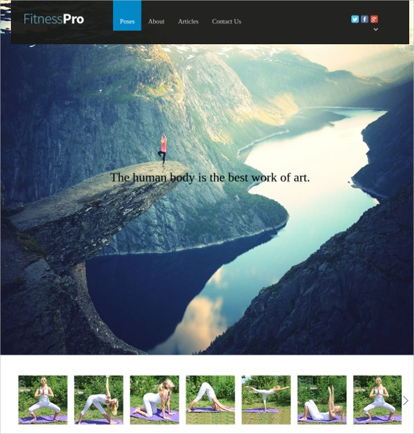Fitness Responsive WordPress Theme For Sports Centers