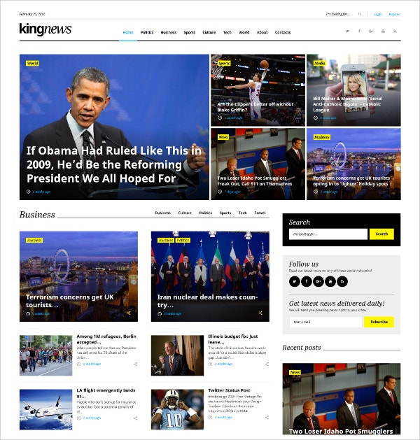 Magazine Responsive WordPress Theme $55
