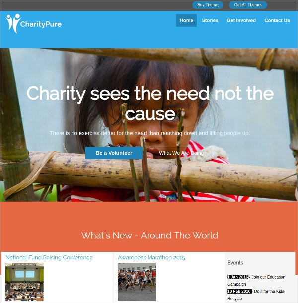Exclusive WordPress Theme For Charity Websites