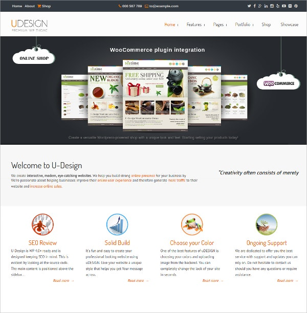 Multipurpose Responsive WordPress Theme $59