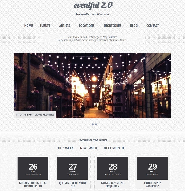 Events Manager WordPress Responsive Theme $49