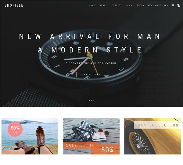 Responsive Free WordPress Ecommerce Website Theme