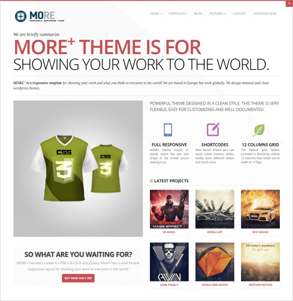 Responsive Mobile Blog WordPress Theme $39