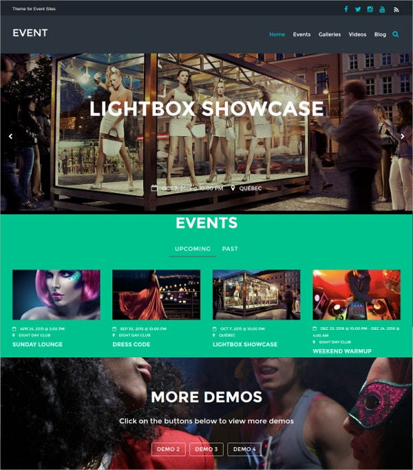 Music Events Responsive Website Theme