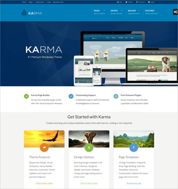 Modern Responsive WordPress Theme $59
