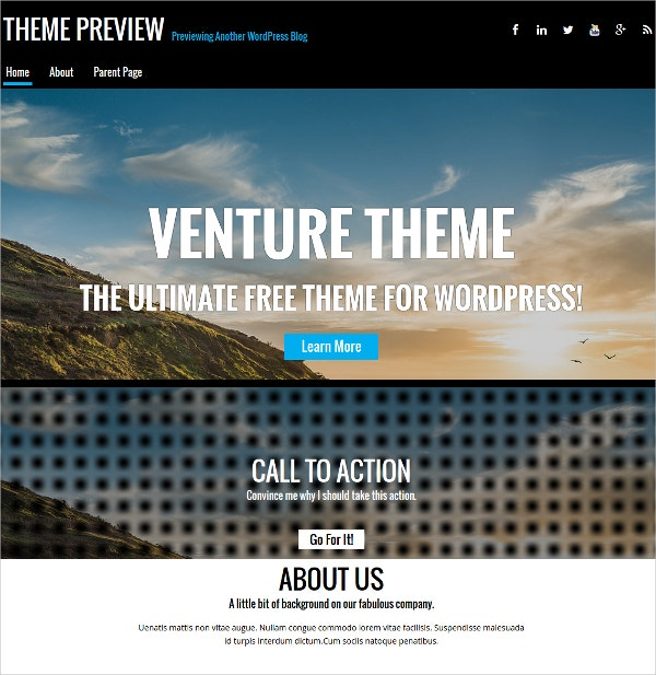 Small Business & Corporate Responsive WordPress Template