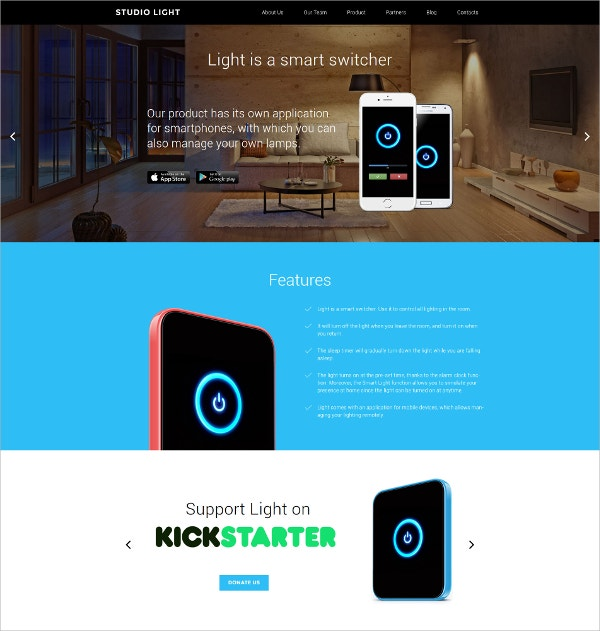 Studio Light Responsive WordPress Theme $75