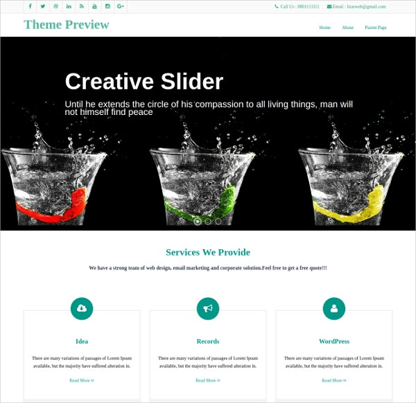 Inventive Responsive WordPress Template