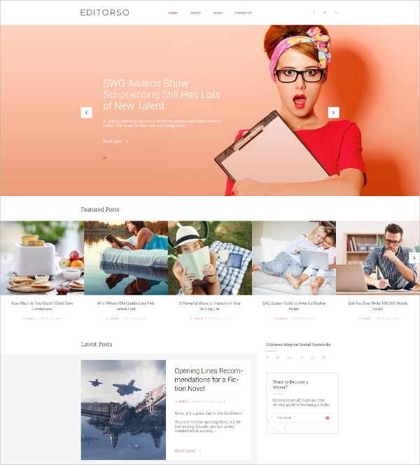 Journalist Blog Responsive WordPress Theme $45