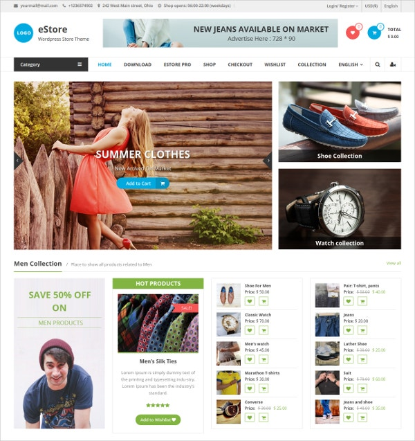 eCommerce Responsive WordPress Theme