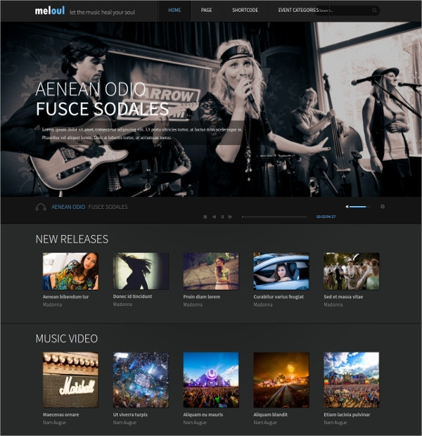 Music & Dance WordPress Theme $39