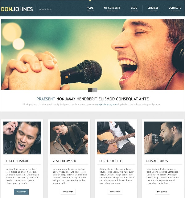 Event Music Singer Responsive WordPress Theme $75