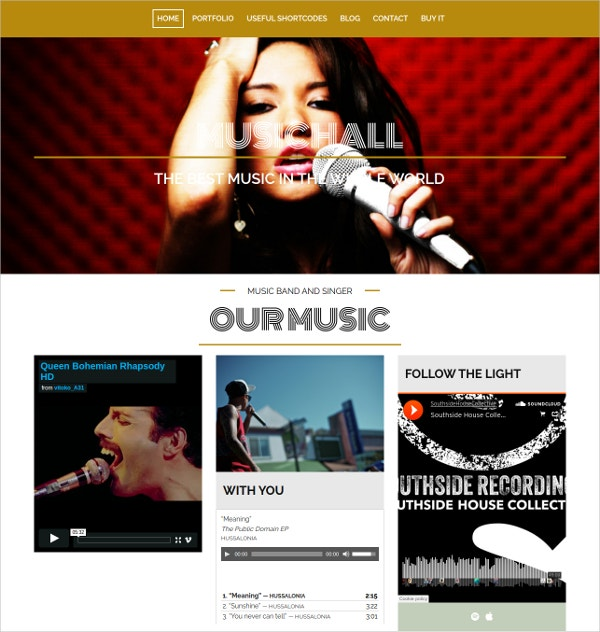 Responsive WordPress Theme For Musicians & Bands $49
