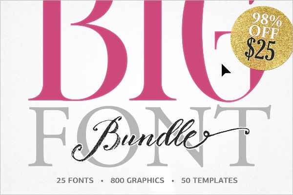 98% off on BIG BUNDLE by BlessedPrint - $25
