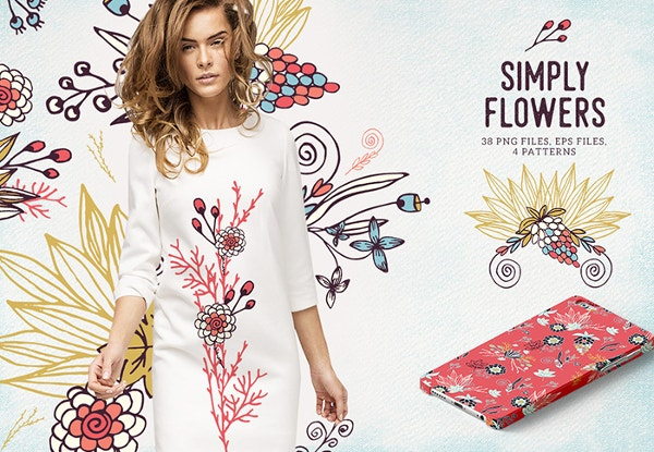 Bloomart Floral Bundle with an Extended License 99% Off