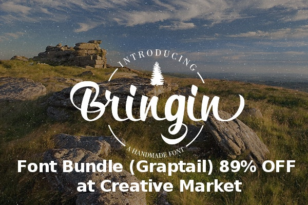 (Graptail) Font Bundle 89% OFF