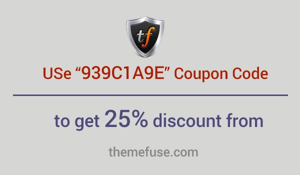 themefuse coupon code for july 2016 25 off