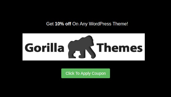 gorilla themes 10 discount coupon for july 2016