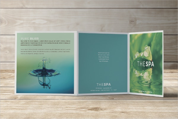 spa trifold square brochure