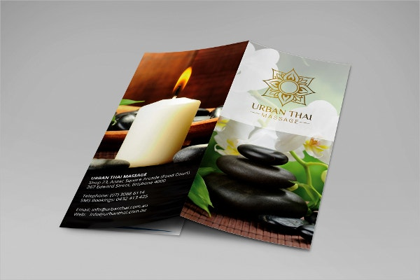urban thai massage brochure