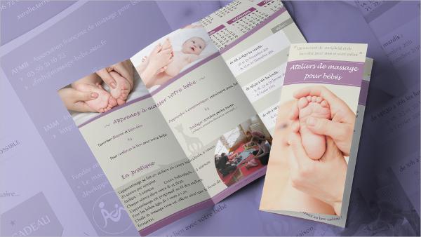massage pour bebe brochure