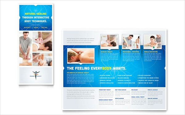 reflexology massage brochure