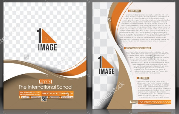 international school flyer template