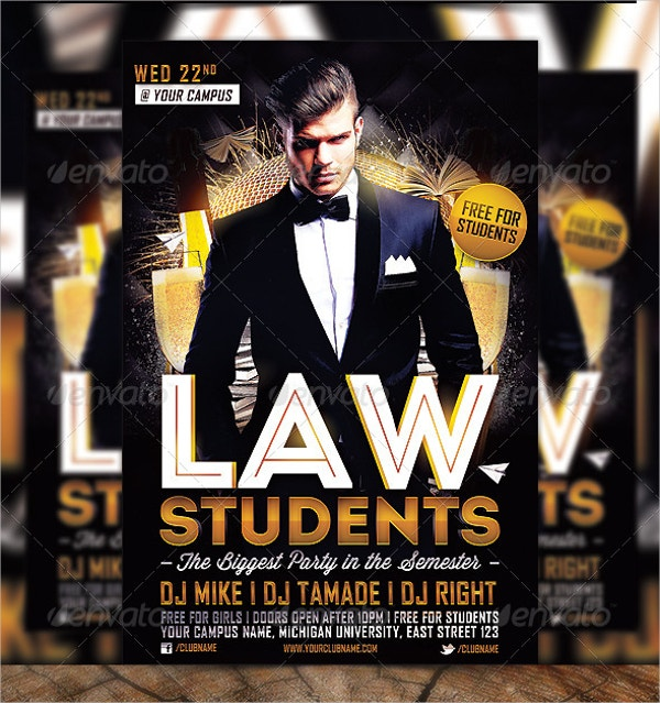 law students party flyer