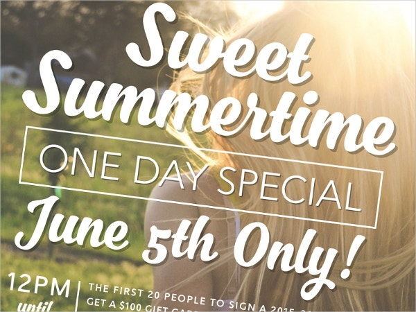 Student Summertime Special Flyer