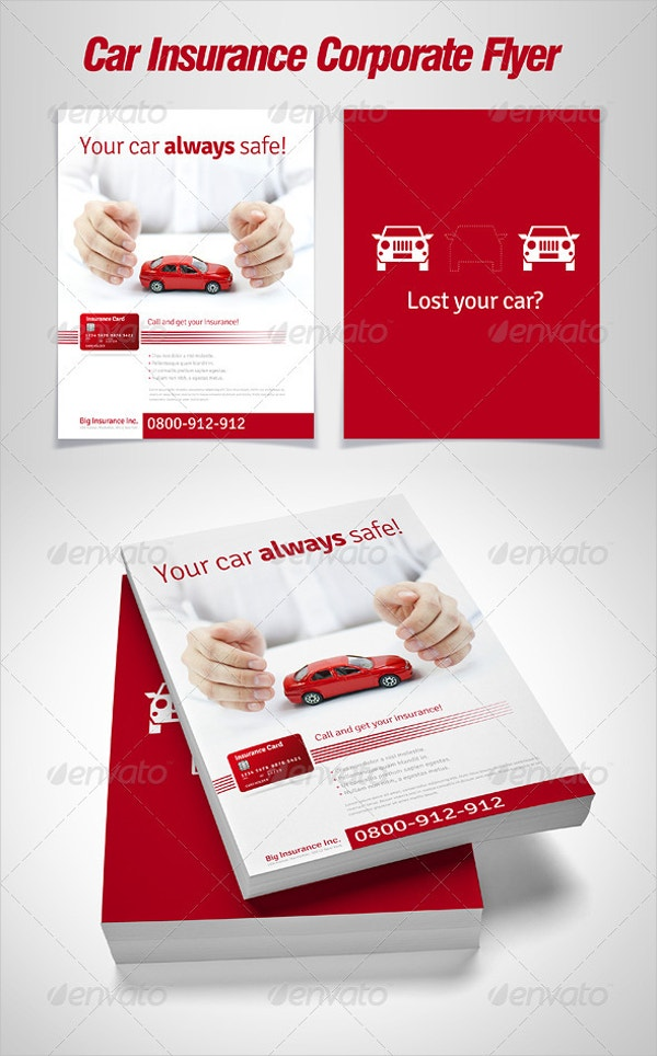 Car Insurance Corporate Flyer