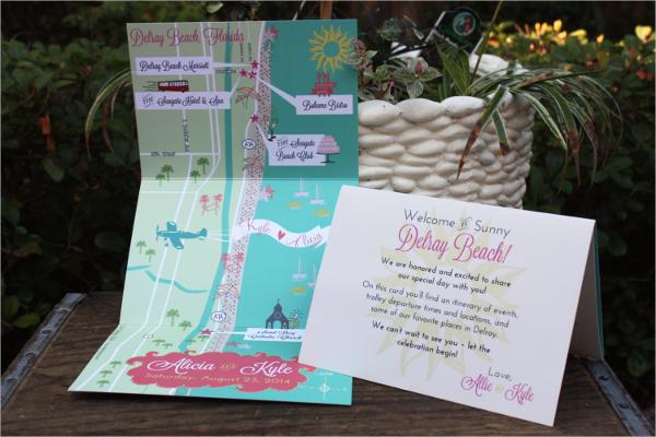 Wedding Map Infographic Brochures