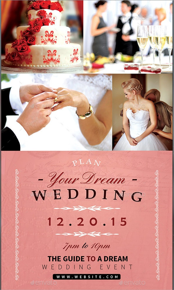 Dream Wedding Event Flyer Template  Flyer Samples For An Event