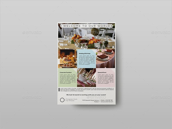 corporate event planner caterer flyer template