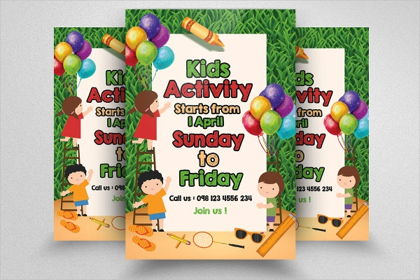 kids activity event flyer templates