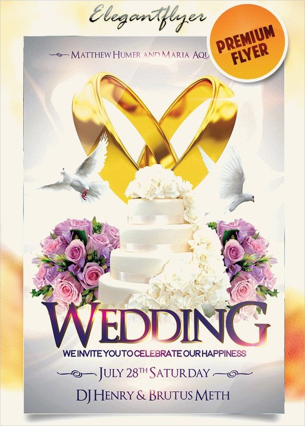 Wedding Event PSD Flyer
