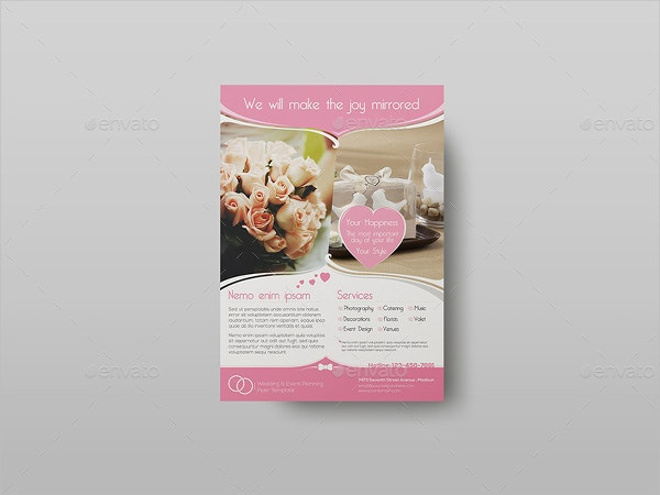 wedding and event planning flyer template