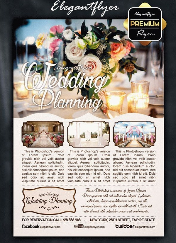wedding planning flyer psd template