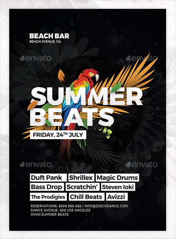 summer beats event flyer