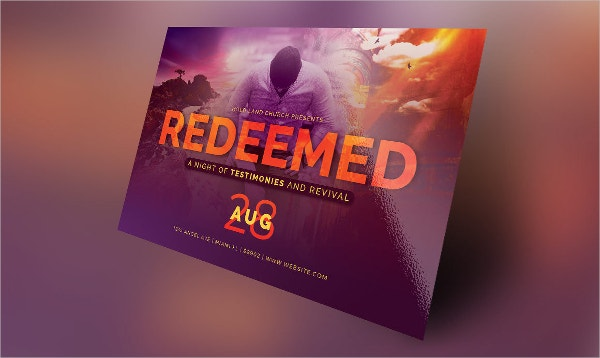 redeemed revival church flyer