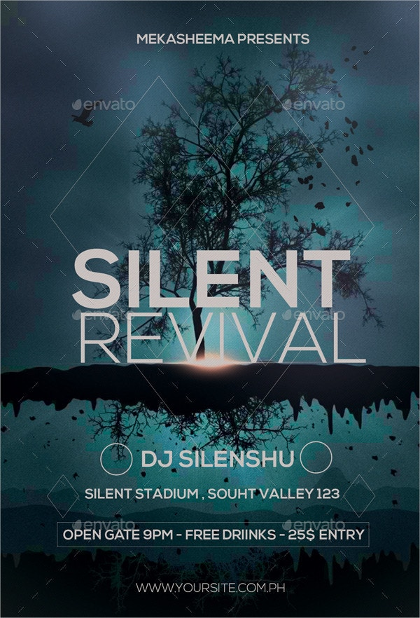silent revival flyer
