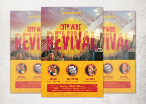 city wide revival church flyer